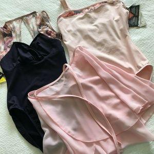 Lot Mondor Dance 2 Leotards & 1 Skirt never worn
